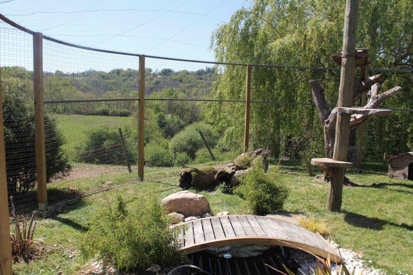 Aménagements extérieurs d'un élevage de Savannahs